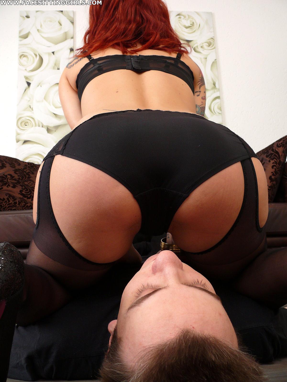 Pantie face sitting